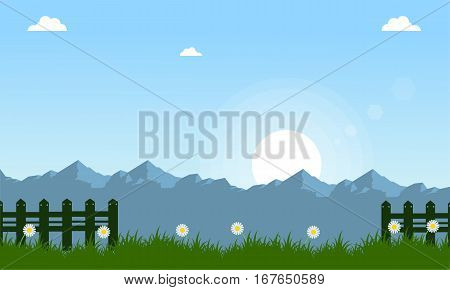 Vector illustration of spring landscape collection stock