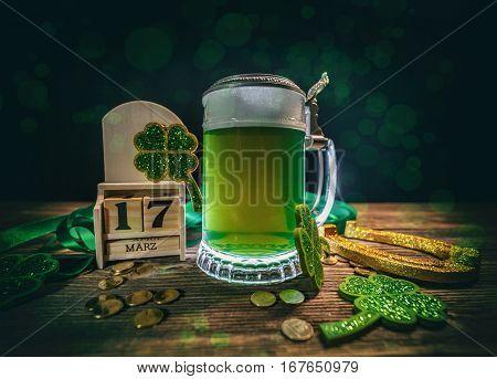 Block Calendar For St Patrick's Day