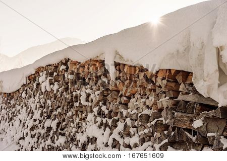 wood timber snow winter cabin traditional alpine life