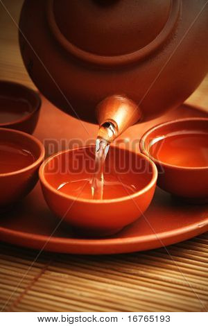 Chinese tea service - food and drink