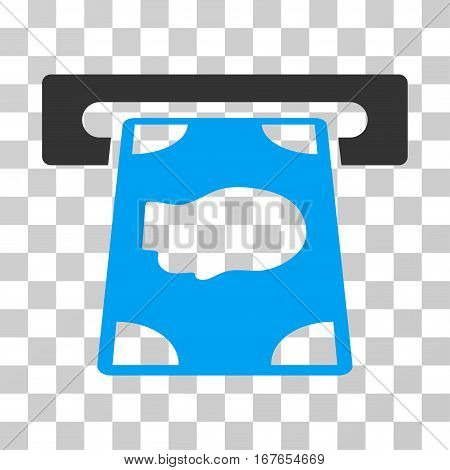 Cashpoint icon. Vector illustration style is flat iconic bicolor symbol blue and gray colors transparent background. Designed for web and software interfaces.