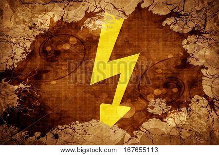 Grunge vintage High voltage sign