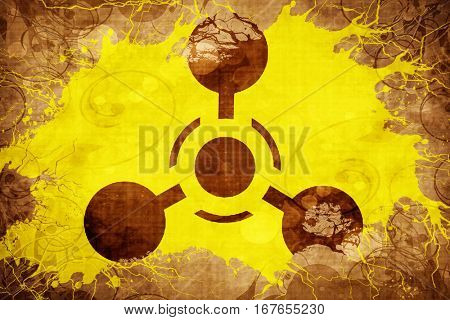 Grunge vintage Chemical weapon sign