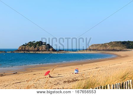Great on the beach and in the sea in St.Malo, France