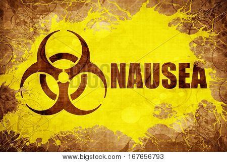 Grunge vintage Nausea