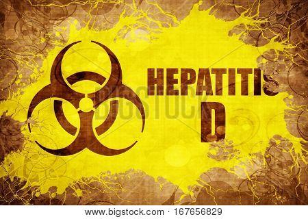 Grunge vintage Hepatitis D