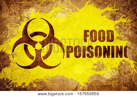 Grunge vintage Food poisoning