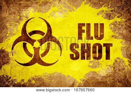 Grunge vintage Flu shot