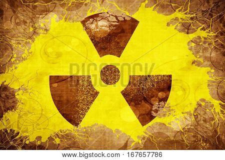 Grunge vintage Radiation warning