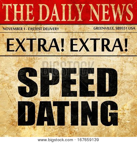 speed dating, newspaper article text