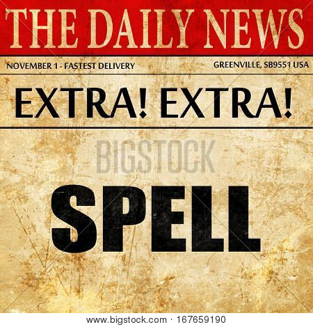 spell, newspaper article text