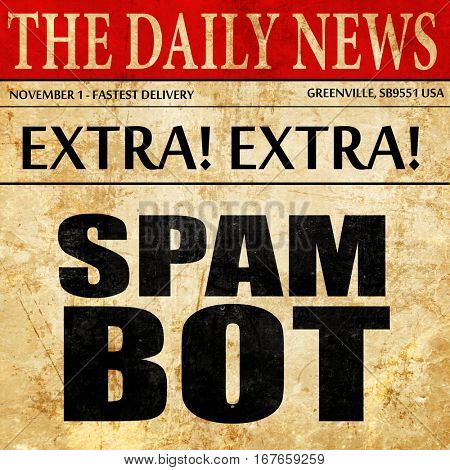 spam bot, newspaper article text