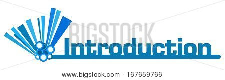 Introduction text written over blue abstract background.