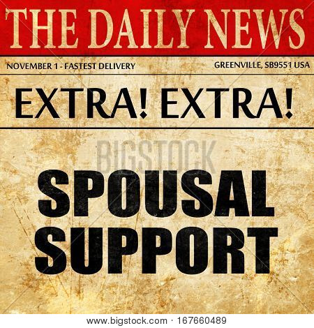spousal support, newspaper article text