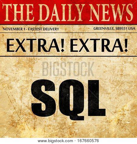 sql, newspaper article text