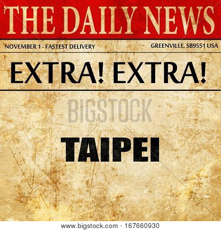 taipei, newspaper article text