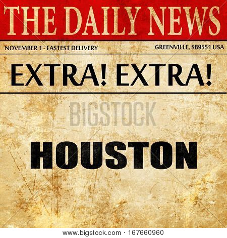 houston, newspaper article text