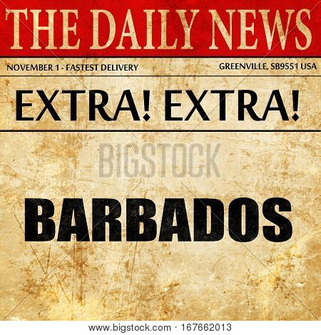 barbados, newspaper article text