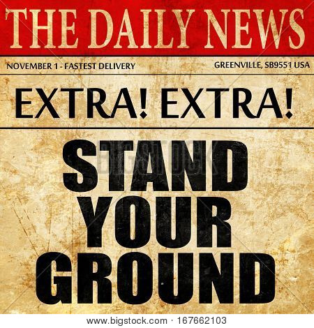 stand your ground, newspaper article text