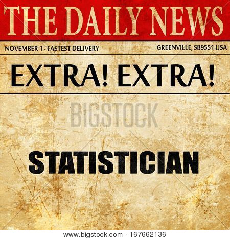 statistician, newspaper article text