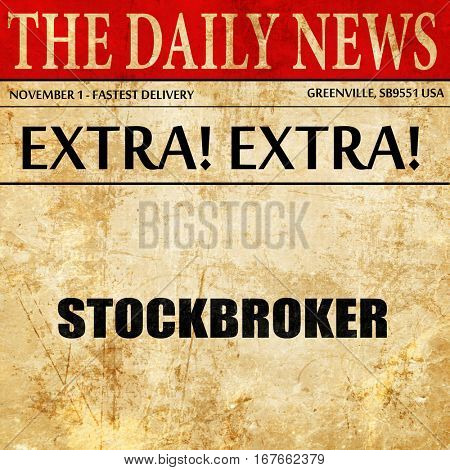 stockbroker, newspaper article text