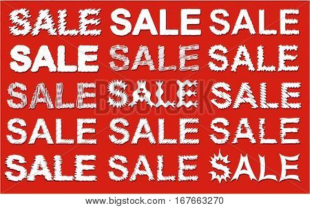 Set of graphic sale signs - vector ilustration