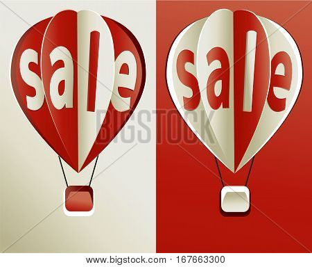 Red sale balloon - vector business icon