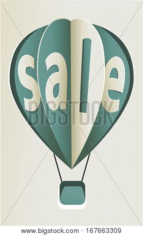 Blue sale balloon - vector business icon