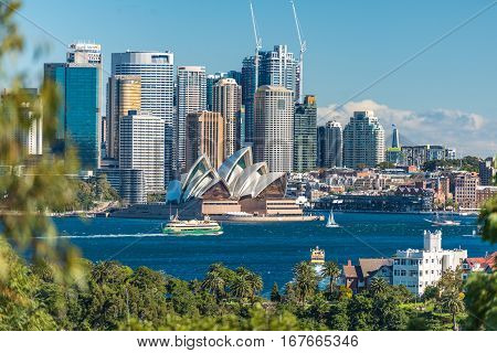 Beautiful View Of Sydney Cbd And Sydney Opera House
