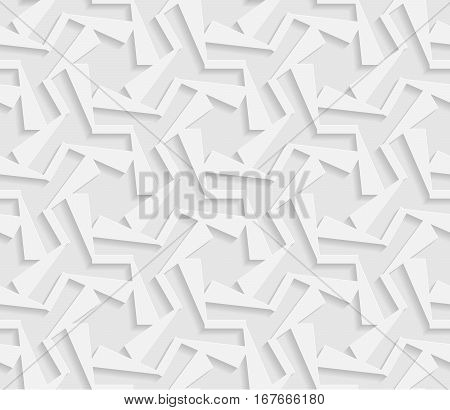 Seamless 3D white pattern indian ornament persian motif vector. Endless texture can be used for wallpaper pattern fills web page background surface textures.