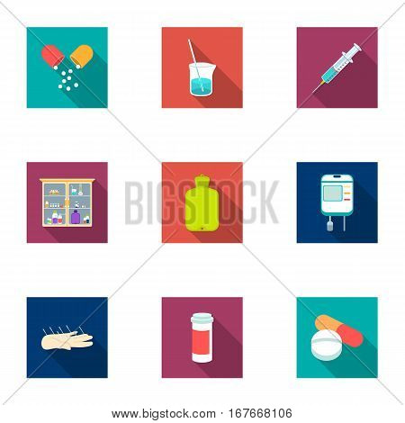 Medicine and hospital set icons in flat style. Big collection of medicine and hospital vector symbol stock
