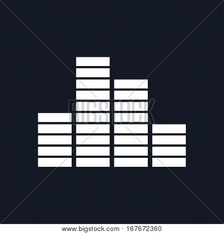 Chart Graph, Growth Isolated on Black Background, Illustration