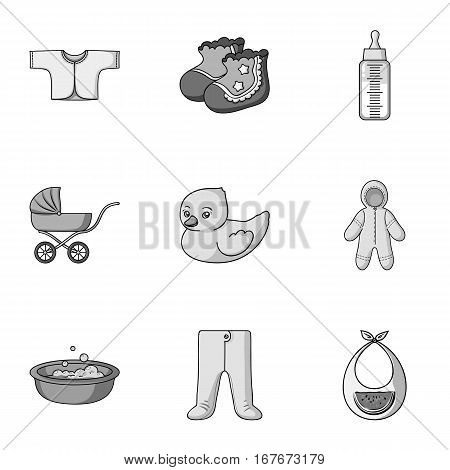 Baby born set icons in monochrome design. Big collection of baby born vector symbol stock illustration