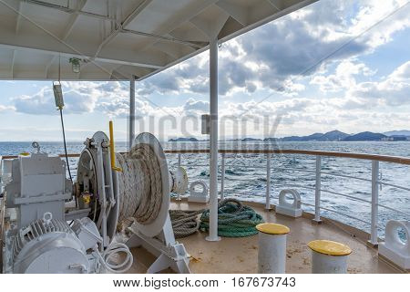 Deck tourist ship to travel