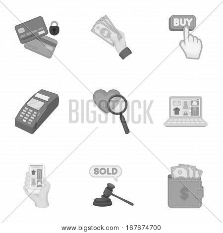 E-commerce set icons in monochrome style. Big collection of e-commerce vector symbol stock