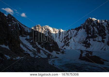 Beautiful mountain landscape at Tian Shan mountains. Kyrgyzstan