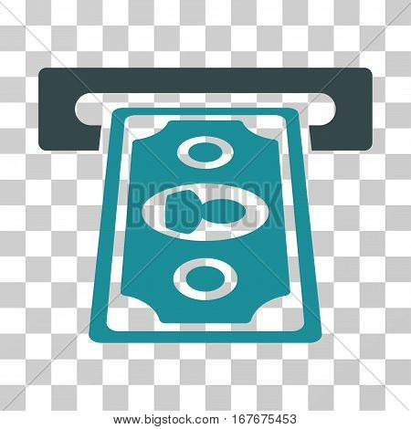 Cashpoint Terminal icon. Vector illustration style is flat iconic bicolor symbol soft blue colors transparent background. Designed for web and software interfaces.