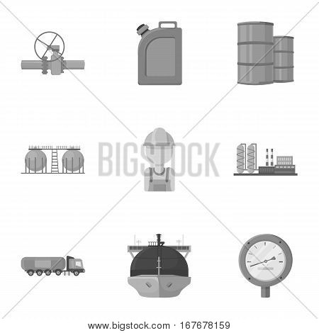 Oil industry set icons in monochrome design. Big collection of oil industry vector symbol stock illustration