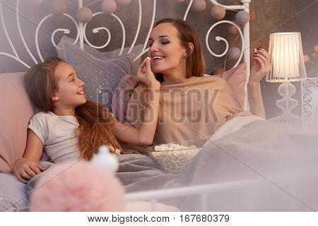 Mother Spending Evening With Daughter