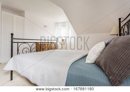 Marital Bed With Pillows And Window