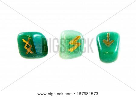 Runes Isolated On The White Background.