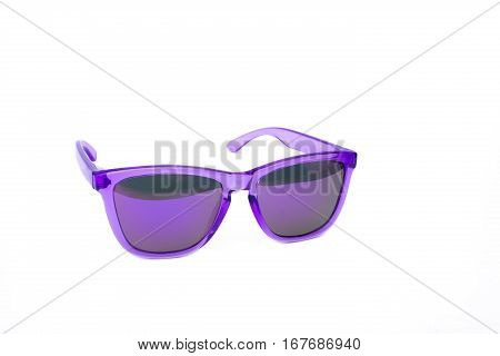 Trendy Purple sunglasses isolated on white background
