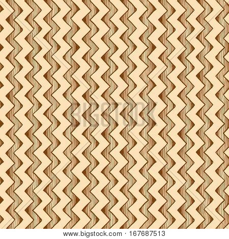 vintage seamless pattern of zigzag parallel lines. Vector illustration in ink hand drawn style.