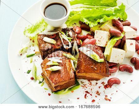 Pork Ribs With Soy Sauce And Beer