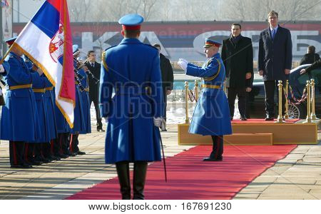 Belgrade, Serbia. January 31St - Greece Prime Minister Alexis Tsipras In Official Visit To Belgrade.