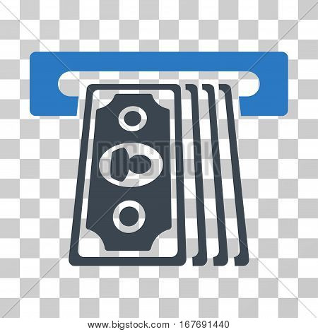 Cashpoint Terminal icon. Vector illustration style is flat iconic bicolor symbol smooth blue colors transparent background. Designed for web and software interfaces.