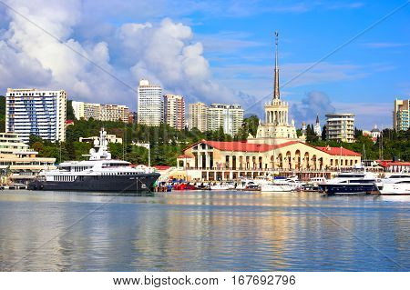 Port Of Sochi In The Central Region Of Sochi, Russia