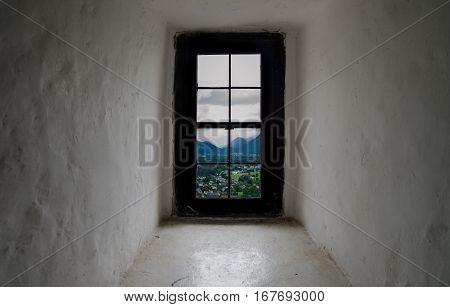 View On Salzburg City From Hohensalzburg Castle Window