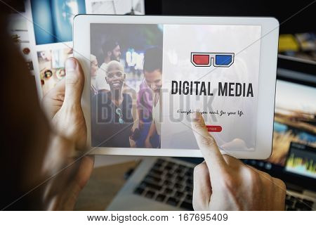 3D glasses icon entertainment media