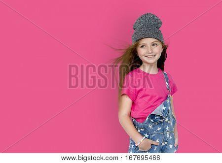 Little Girl Smiling Posture Concept